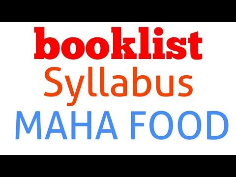 Book List & Syllabus  || Maha Food Recruitment 2018 || Lecturer