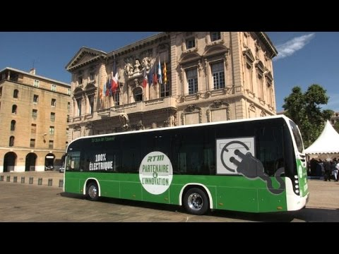 Marseille launches France's first 100% electric bus line