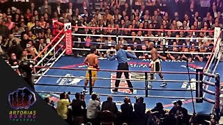 Floyd Mayweather Jr. Hugging and Running from Manny Pacquiao (Inside the Arena)