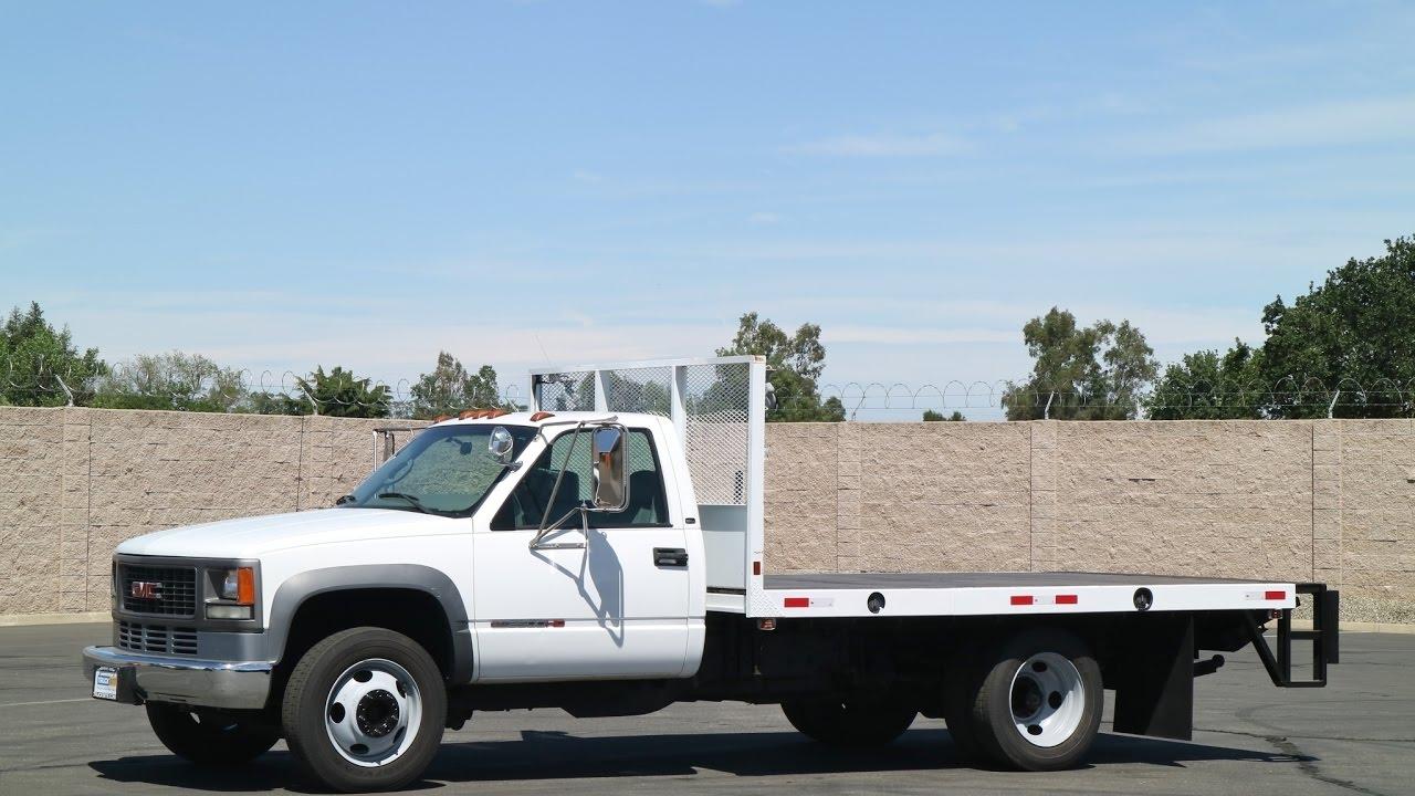 2001 Gmc 3500hd 12 Flatbed Truck Youtube