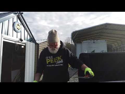 Cutting Foam Insulation with a serrated knife
