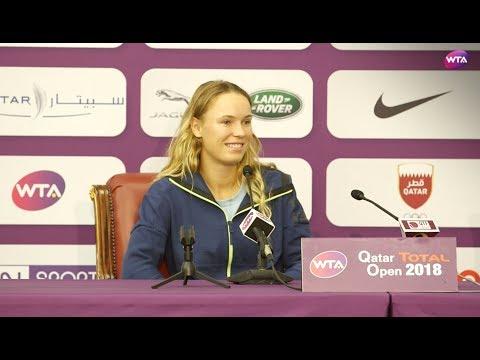 2018 Qatar Open press conference: Wozniacki 'it feels good to remain World No. 1'