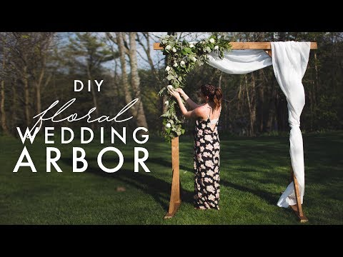 DIY WOODEN ARCH - PERFECT FOR WEDDINGS! thumbnail
