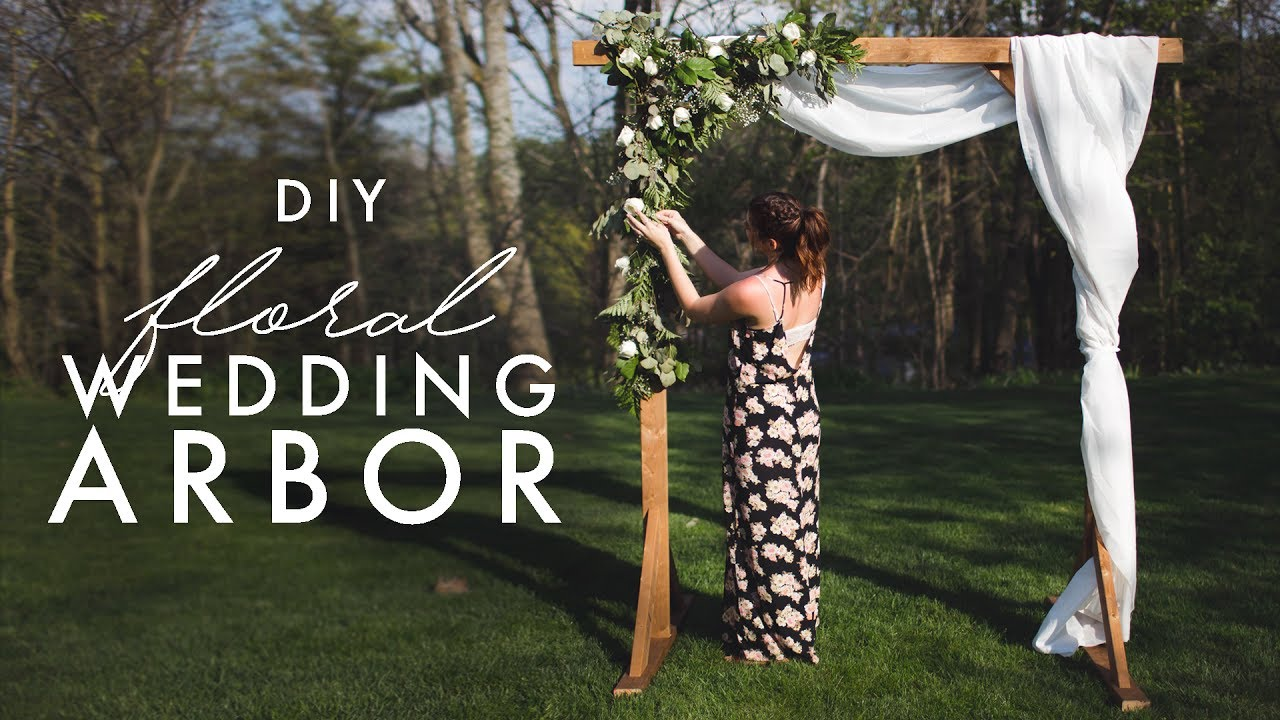 Diy Wooden Arch Perfect For Weddings Youtube