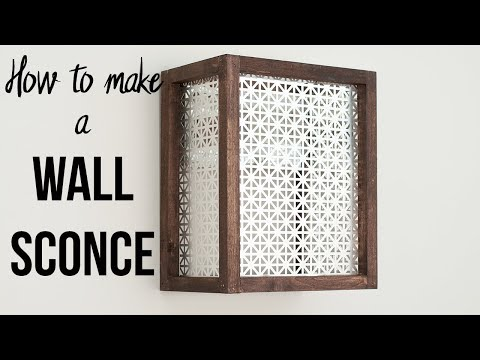 How to Make a Wall Sconce - Easy and Quick!