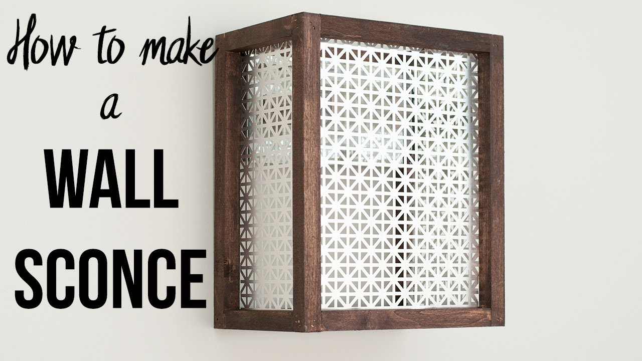 How to Make a Wall Sconce - Easy and Quick! - YouTube