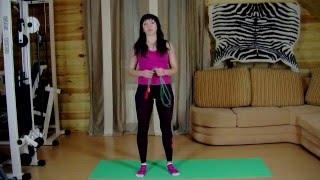 Видеоурок 19 - Растяжка с помощью скакалки