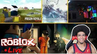 ⭐️🔴Roblox playing with fans Jailbreak, MM2, and More Live #143