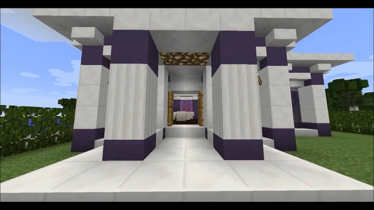 Minecraft Small House 5-Quartz and Stained lay - Youube - ^