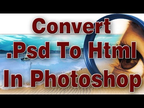 Convert Psd To Html With Adobe Photoshop