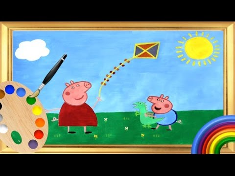Peppa Pig Learn Colours! Kids Learn to Paint Colors