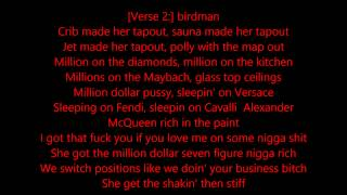 Birdman - Tapout ft. Lil Wayne, Future, Mack Maine & Nicki Minaj Lyrics On The Screen 1080p