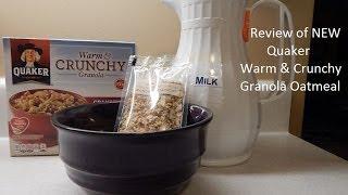 Quaker Warm & Crunchy Granola Oatmeal