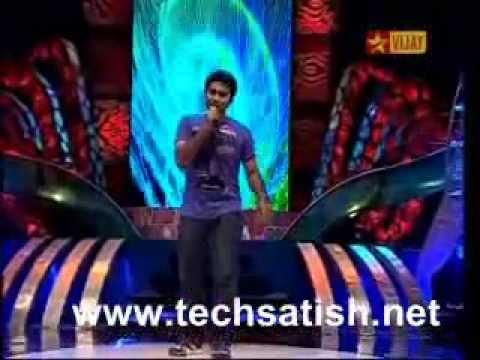 Airtel Super Singer 3 - Krishna Sridharan _Avalukkenna amba samuthiram