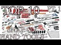 TOP TEN SNAP ON HAND TOOLS PT. 1     sold on my truck