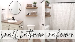 Small Bathroom Makeover | Modern Farmhouse Bathroom Makeover | Decorate With Me