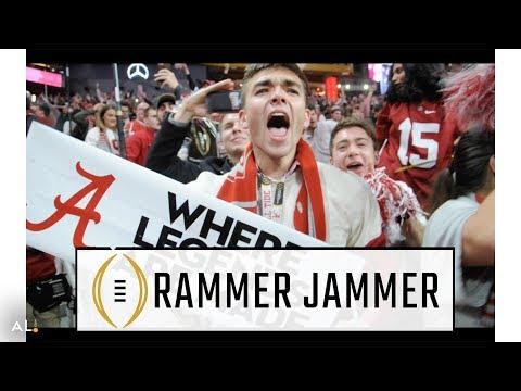 Alabama fans go wild, sing Rammer Jammer after winning National Championship