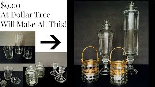 DOLLAR TREE $9 = DIY 2 Apothecary Jars & 2 Lanterns