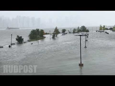 Flooding on North Bergen waterfront