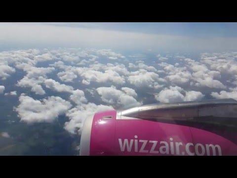 Landing at Debrecen Airport (Hungary)  - 4K