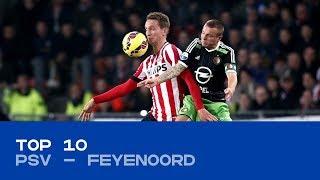 TOP 10 | De mooiste goals tijdens PSV - Feyenoord