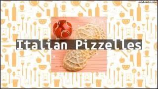 Recipe Italian Pizzelles