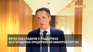 Вячеслав Гладков о поддержке белгородских предприятий Минпромторгом