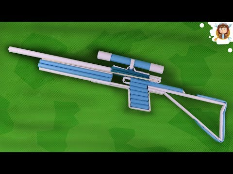 How To Make a Paper Sniper Rifle that...