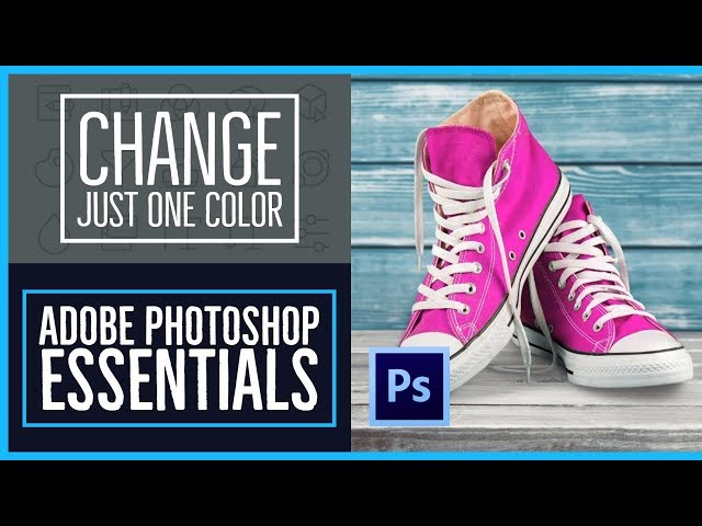 How to change just one color in Adobe Photoshop - Photoshop CC Essentials [8/86]