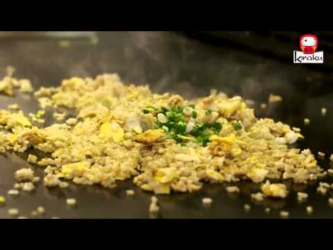 Teppanyaki Cooking - Garlic Fried Rice