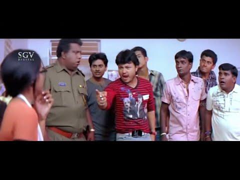 Police Arrests Ganesh and His Friends   Comedy Scenes   Ullasa Utsaha Kannada Movie Part-3