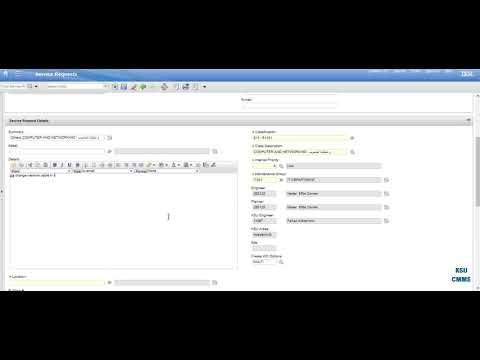 انشاء طلب خدمة Create A Service Request By MAXIMO (SR)