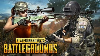 PUBG DUO FIRST PERSON w/ MY GIRLFRIEND!! (Player Unknown Battlegrounds)