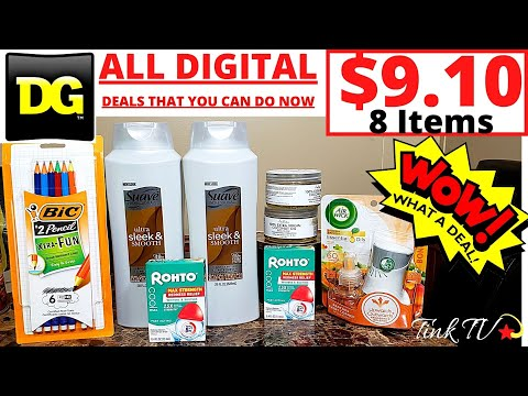 😍💥DOLLAR GENERAL COUPONING💥ALL DIGITAL DEALS  YOU CAN DO NOW💥DEALS AS LOW AS .25💥BEGINNER FRIENDLY💥
