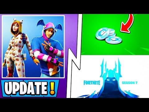 *NEW* Fortnite Update!   Battle Pass Season 7, Free 1000 Vbucks, Secret Feature! thumbnail