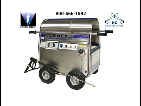 Merveilleux Hydro Tek HP Series Electric Powered Hot Water Pressure Washer Steam Cleaner  800 666 1992   YouTube
