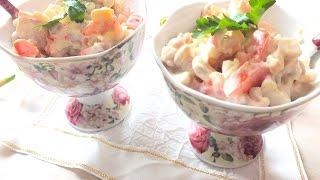 Сытный салат из куриной грудки и фасоли chicken salad recipe
