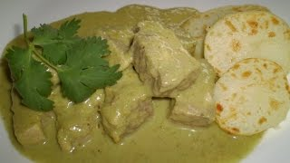 Receta de mole verde con carne de cerdo