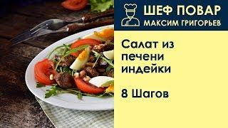 Салат из печени индейки . Рецепт от шеф повара Максима Григорьева
