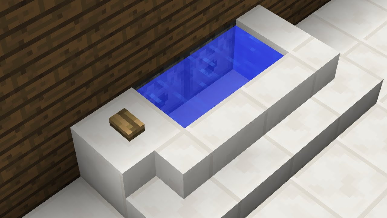How To Make A Bathtub In Minecraft You