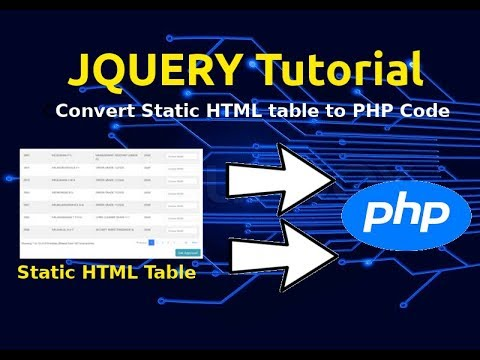 JQuery Javascript Tutorial | Convert Static HTML Table Into PHP Array | Backend Language Array thumbnail