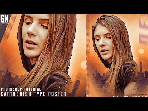 Cartoonish Type Poster   Photoshop Tutorial 2019   Gn Production thumbnail