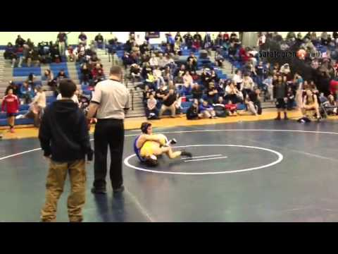 VIDEO Saratoga senior Dom Inzana wins the 126 pound title in his home gym again. #518wrestling