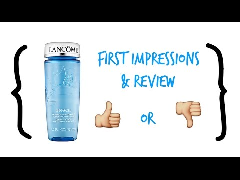 Lancome BI-FACIL Double-Action Eye Makeup Remover Review