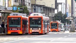 オレンジ化進む路面電車 伊予鉄道 2017年