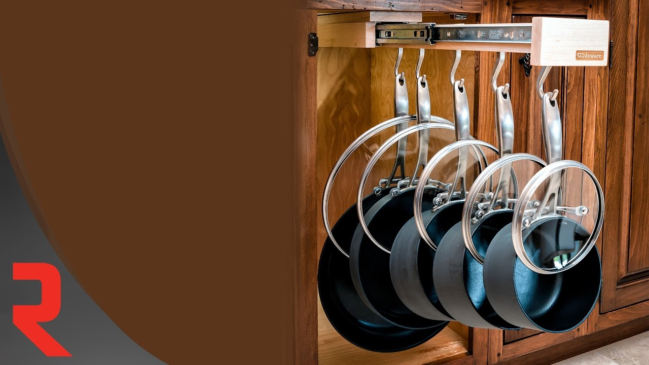 universal wood pull out pot rack