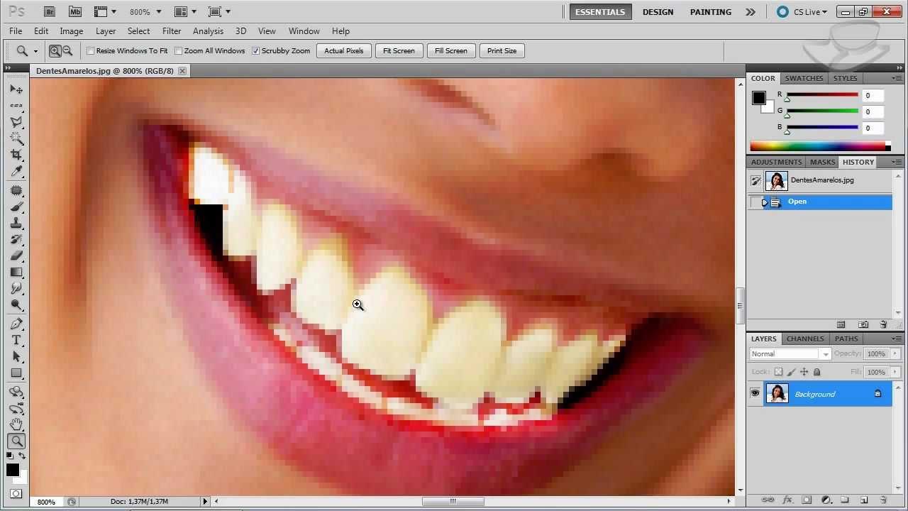 Dicas Photoshop Como Deixar Os Dentes Brancos Baixaki