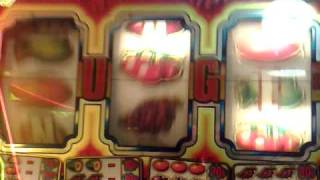 Tuppenny nudger Fruit machine £5 jackpot 2p play RANDOM NUDGES!!!