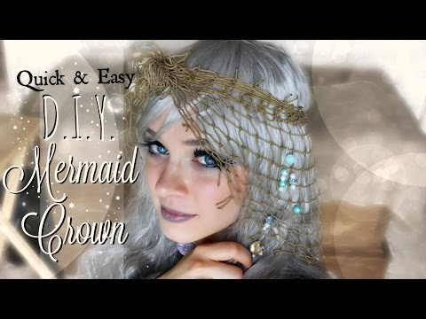 How to Make a Mermaid Crown out of Fishing Net //EASY// DIY #Boho Hair Accessory | The Magic Crafter