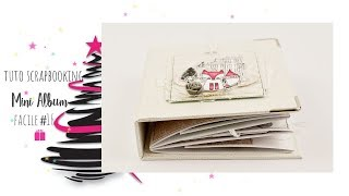 TUTO SCRAPBOOKING MINI ALBUM FACILE #17